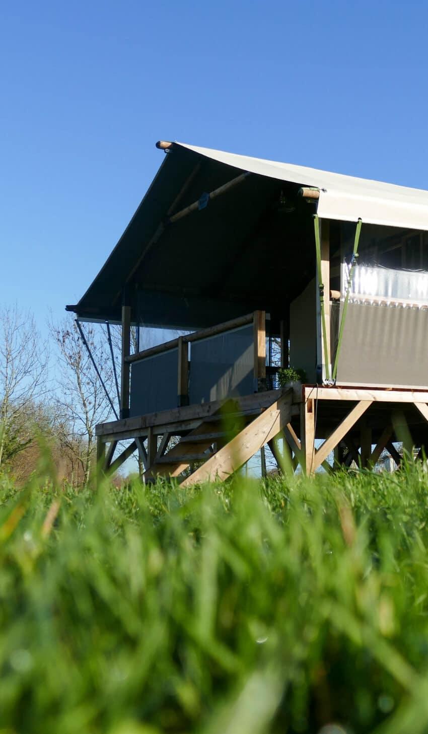 Lodge toilé au camping la Croisée des Chemins